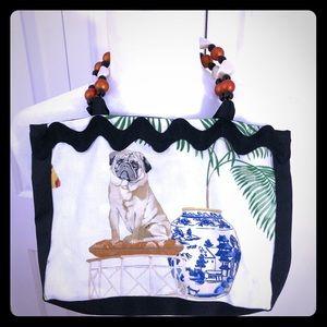 Design By Daphne Cloth Purse w/ Dog